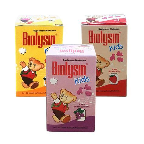 jual biolysin tablet mulitivitamin 30 tablet rasa