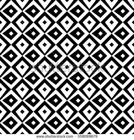 surface pattern print jobs repeated black diamonds on white background stock vector
