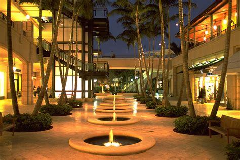 village  merrick park coral gables fl retail street  night career projects street mall