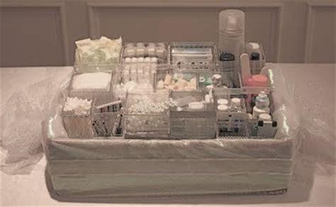 bathroom baskets for weddings idea