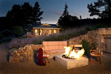 sonoma pit concrete pit deck contemporary with bench built in