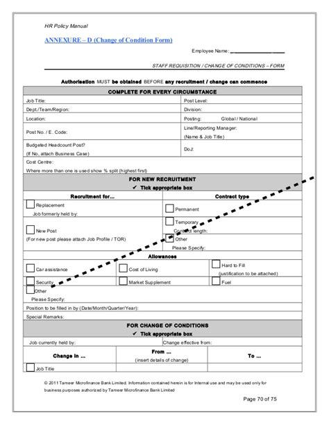 Staff Requisition Form Template