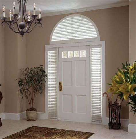 Front Door Window Treatment Front Door Side Glass Window Coverings Products Gallery Columbian Blinds And Shutters