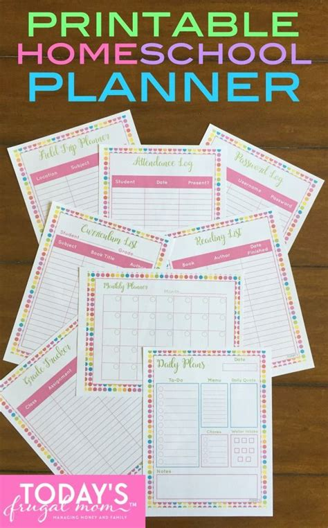 printable homeschool daily planner all new printable homeschool planner homeschool and planners