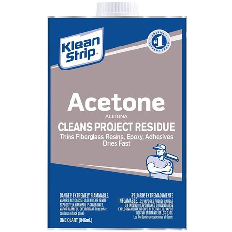 home depot paint label klean 1 qt acetone qac18 the home depot
