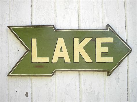 lake house wall art wooden lake sign rustic lake house cabin cottage wall hanging art dec