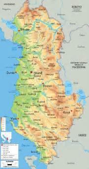 Albania Map Europe by Physical Map Of Albania Ezilon Maps