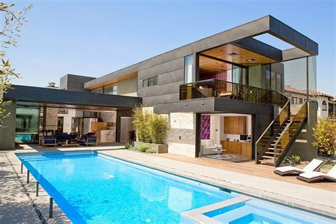 modern house with pool modern two level pool house in los angeles with a cheerful