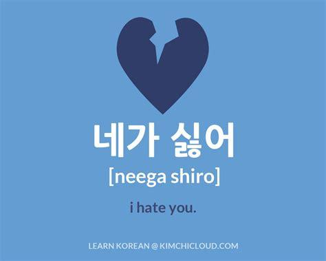 how to a to say i you 네가 싫어 how to say quot i you quot in korean kimchi cloud