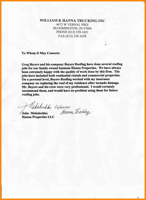 Reference Letter Purpose 15 personal letter of recommendation for a friend for a