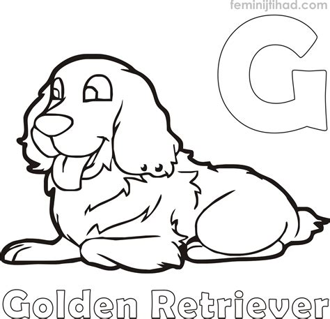 Golden Retriever Coloring Pages by Free Golden Retriever Coloring Pages Coloring Pages For