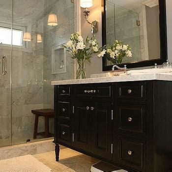 Black Vanity Bathroom Ideas Black Bathroom Vanity White Marble Top Design Ideas