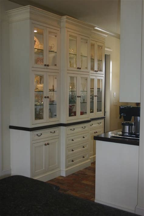 Built In Pantry Cabinet Built In China Cabinets And Butler Pantry
