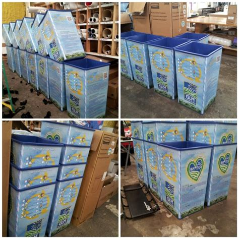 we did these recycling bin wraps for glm of dallas texas skinzwraps