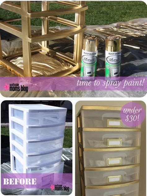 How To Paint Plastic Drawers by 17 Best Ideas About Plastic Storage Drawers On
