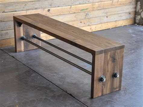 diy industrial bench 25 best ideas about industrial furniture on pinterest