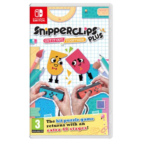 Nintendo Switch Switch Snipperclips Plus Cut It Out Together Us snipperclips plus cut it out together nintendo official uk store