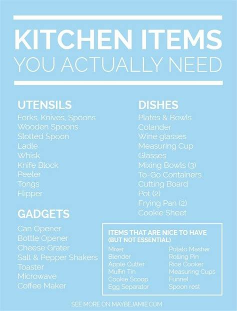 kitchen checklist for first home best 25 kitchen essentials list ideas on pinterest