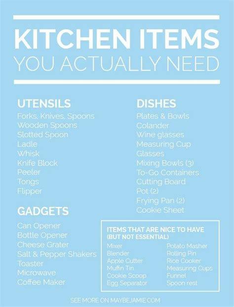 kitchen checklist for first home the 25 best kitchen essentials list ideas on pinterest