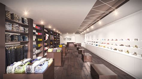 Interior Design Concept by Shoe Store Retail Interior Rendering 2reveal