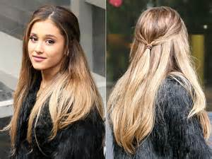 whats up with grandes hair ariana grande lets her hair down tress talk