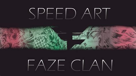 speed art faze clan background youtube