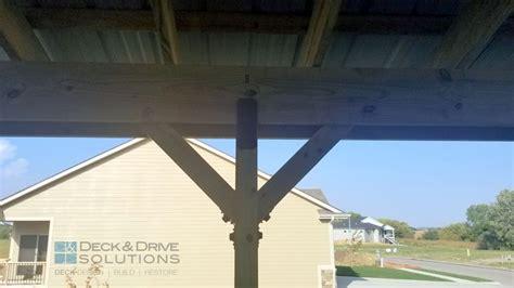 metal roof  deck des moines deck builder deck
