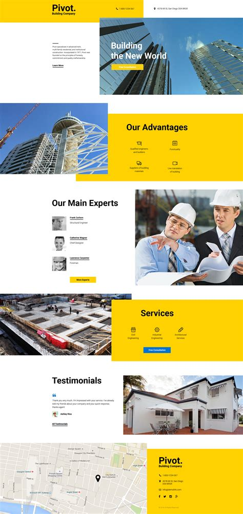 Construction Company Landing Page Template 58128 Construction Template