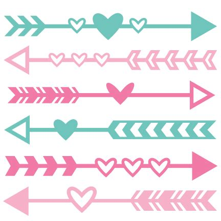 arrow pattern svg valentine arrow set svg scrapbook cut file cute clipart
