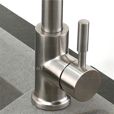 high end stretch stainless steel brushed nickel kitchen faucets