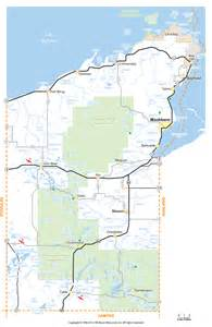 bayfield county wisconsin map