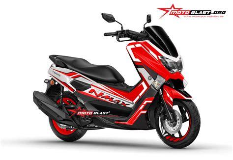 Bautmur Yamaha Nmax Terbaru modifikasi motor matic terbaru yamaha nmax striping two tone motoblast