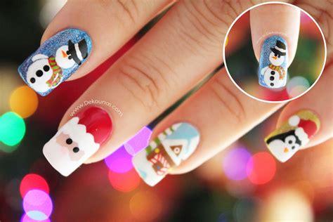 imagenes de uñas pintadas para navidad decoraci 243 n de u 241 as navidad mu 209 eco de nieve snowman nail