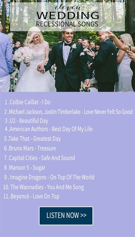 Wedding Song Exit 11 wedding recessional songs wedding exit songs wedding