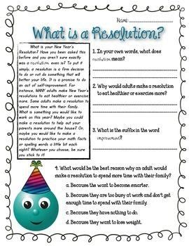 reading comprehension on new year new year s resolution reading passage resolutions