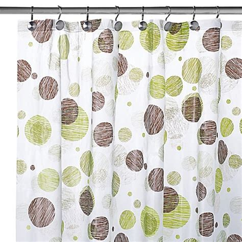 circles shower curtain peva textured circles shower curtain bed bath beyond