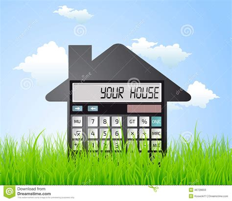 calculator to buy a house calculator buying a house stock vector image 46728659