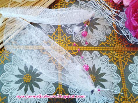03 Manik Jaring Senam Aerobic jurnal kahwin aya diy bunga telur