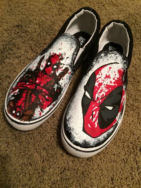 splatter paint custom deadpool shoes