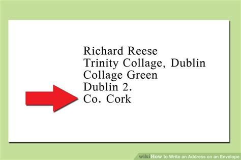 letter address format ireland the proper way to write an address on an envelope wikihow