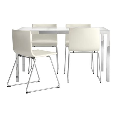 Torsby Bernhard Table And 4 Chairs Glass White Kavat White Ikea Glass Dining Table And Chairs