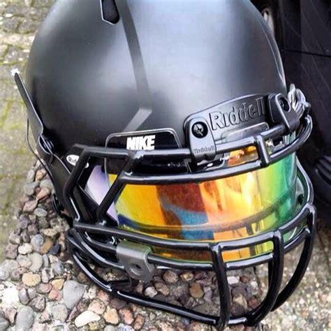 colorful football visors shoc iridium insert in a nike football visor on a blacked