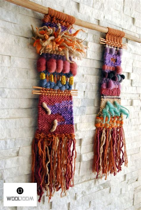 194 loomed tapestry wall hanging or rug lot inca woven wall hanging weaving telar decorativo made by wool loom www