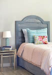 diy headboard made with faux shiplap panels