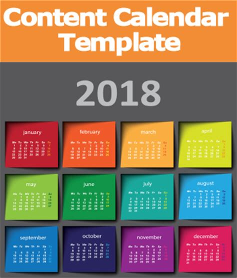 content marketing calendar template 2018 content marketing calendar template trends and