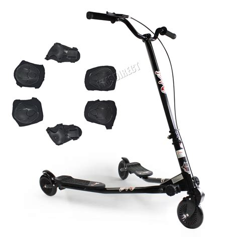scooter swing foxhunter 3 wheel swing tri slider motion winged push