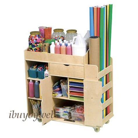 Guidecraft Art Supply Storage Activity Rolling Cart