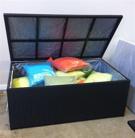 Outdoor Cushion Storage Box   Vancouver Sofa Company