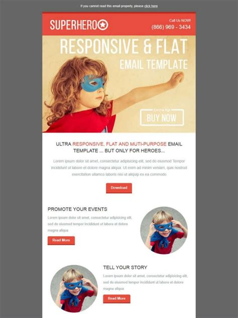 superheroo email template email marketing templates