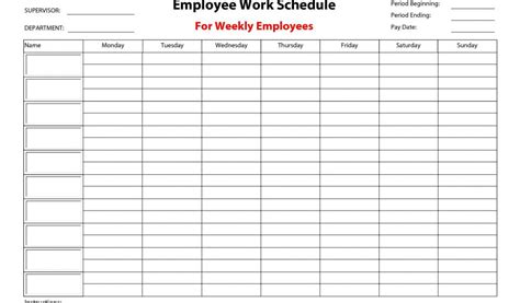 free shift schedule template employee schedule templates free and excel employee shift